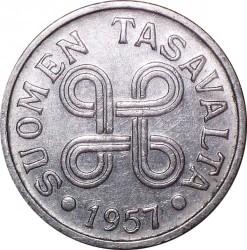 Münze > 5Mark, 1957 - Finnland  - obverse