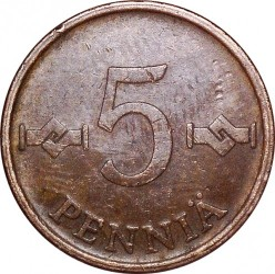 Moneta > 5pensai, 1963-1977 - Suomija  - obverse