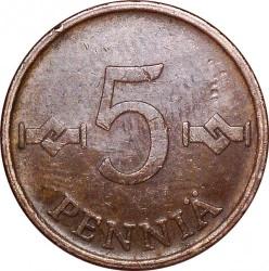 Moneta > 5pensai, 1963-1977 - Suomija  - reverse