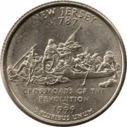 Moneda > ¼ dollar, 1999 - Estats Units  (Quarter del Estat de New Jersey ) - reverse