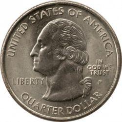 Moeda > ¼dólar, 1999 - EUA  (Georgia State Quarter) - obverse