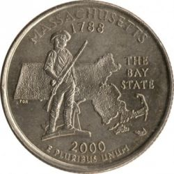 Coin > ¼ dollar, 2000 - USA  (Massachusetts State Quarter) - reverse