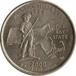 Coin > ¼dollar, 2000 - USA  (Massachusetts State Quarter) - reverse