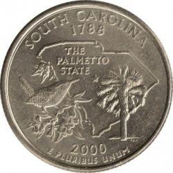 Coin > ¼dollar, 2000 - USA  (South Carolina State Quarter) - reverse