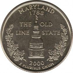 Moneda > ¼dólar, 2000 - Estados Unidos  (Estado de Maryland) - reverse