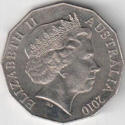 Coin > 50cents, 2010 - Australia  (Australia Day 2010) - reverse