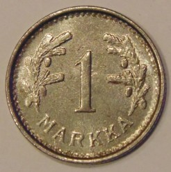 Münze > 1Mark, 1950 - Finnland  (Iron /gray color/) - obverse