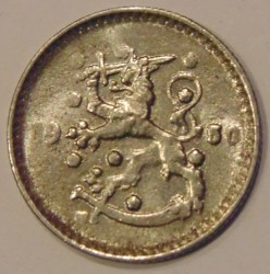 Münze > 1Mark, 1950 - Finnland  (Iron /gray color/) - reverse