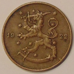 Münze > 10Penny, 1922 - Finnland  - reverse