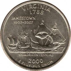 Moneda > ¼dólar, 2000 - Estados Unidos  (Estado de Virginia) - reverse