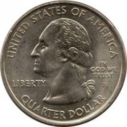 Münze > ¼Dollar, 2001 - USA  (Vermont State Quarter) - obverse