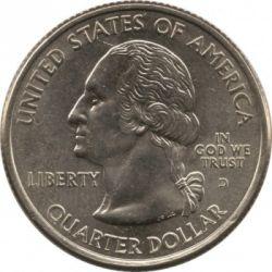 Coin > ¼dollar, 2001 - USA  (Kentucky State Quarter) - obverse