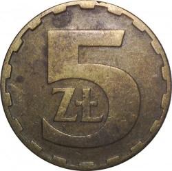 Кованица > 5злота, 1975-1985 - Пољска  - reverse