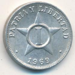Monēta > 1sentavo, 1963-1982 - Kuba  - obverse