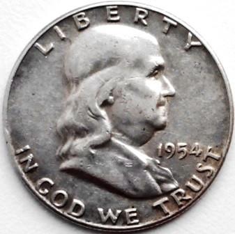 1954 50C Franklin Silver Half Dollar BU