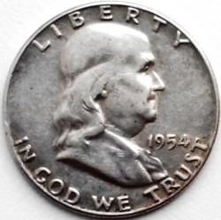 Moneta > ½dollaro, 1948-1963 - USA  (Franklin Mezzo Dollaro) - obverse