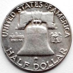 Moneta > ½dollaro, 1948-1963 - USA  (Franklin Mezzo Dollaro) - reverse