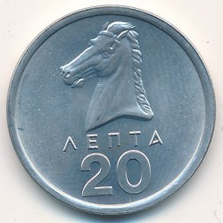 錢幣 > 20雷普塔, 1976-1978 - 希臘  - obverse