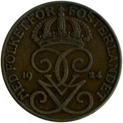 العملة > 5إيري, 1924 - السويد  - obverse