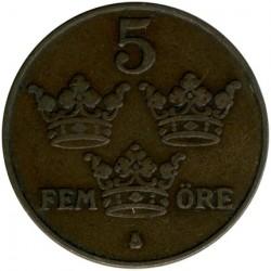 العملة > 5إيري, 1924 - السويد  - reverse