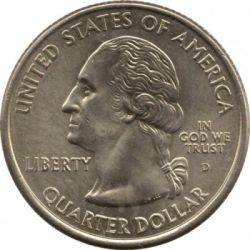 Moneda > ¼ dollar, 2002 - Estats Units  (Quarter del Estat de Indiana) - obverse