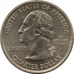 Кованица > ¼долара, 2002 - Сједињене Америчке Државе  (Mississippi State Quarter) - obverse