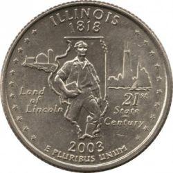 سکه > ¼دلار, 2003 - ایالات متحده آمریکا  (Illinois State Quarter) - reverse