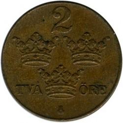 Moneta > 2erės, 1909-1950 - Švedija  - reverse