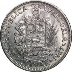 Νόμισμα > 1Μπολιβάρ, 1967 - Βενεζουέλα  - obverse