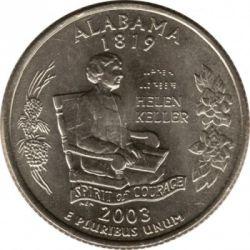 Moneda > ¼dólar, 2003 - Estados Unidos  (Estado de Alabama) - reverse