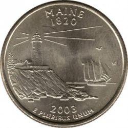 Кованица > ¼долара, 2003 - Сједињене Америчке Државе  (Maine State Quarter) - reverse