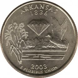Монета > ¼долар, 2003 - САЩ  (Arkansas State Quarter) - reverse