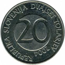 Moneda > 20tolarjev, 2004 - Eslovènia  - obverse