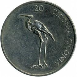 Moneda > 20tolarjev, 2003-2006 - Eslovènia  - reverse