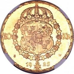 Pièce > 20kronor, 1925 - Suède  - reverse