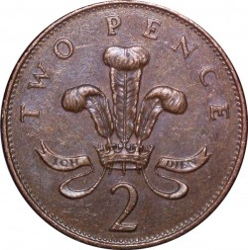 Mynt > 2pence, 1992-1997 - Storbritannia  - obverse