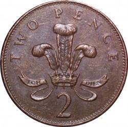 Mynt > 2pence, 1992-1997 - Storbritannia  - reverse