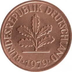 Coin > 2 pfennig, 1979 - Germany  - obverse