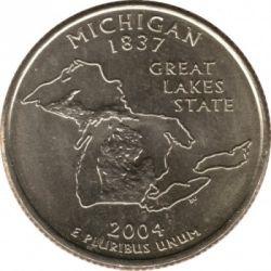 Monēta > ¼dolārs, 2004 - ASV  (Michigan State Quarter) - reverse