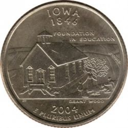 Moneda > ¼dólar, 2004 - Estados Unidos  (Estado de Iowa) - reverse