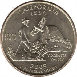 Кованица > ¼долара, 2005 - Сједињене Америчке Државе  (California State Quarter) - reverse