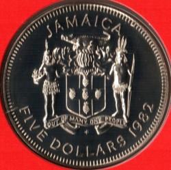 Münze > 5Dollar, 1980-1984 - Jamaika  - obverse