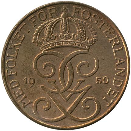 5 öre 1910 1950 Schweden Münzen Wert Ucoinnet