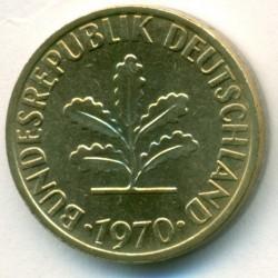 Mynt > 1pfenniger, 1950-2001 - Tyskland  - obverse