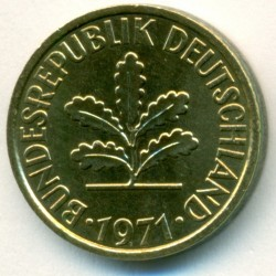 Coin > 5pfennig, 1971 - Germany  - obverse
