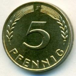 Coin > 5pfennig, 1971 - Germany  - reverse
