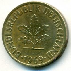 Moneta > 10pfennig, 1969 - Germania  - obverse