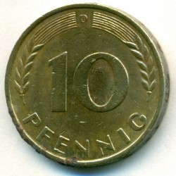 Coin > 10 pfennig, 1969 - Germany  - reverse