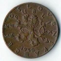 Moneda > 50hellers, 1950 - Txecoslovàquia  - obverse