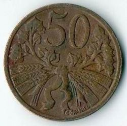 Moneda > 50hellers, 1950 - Txecoslovàquia  - reverse